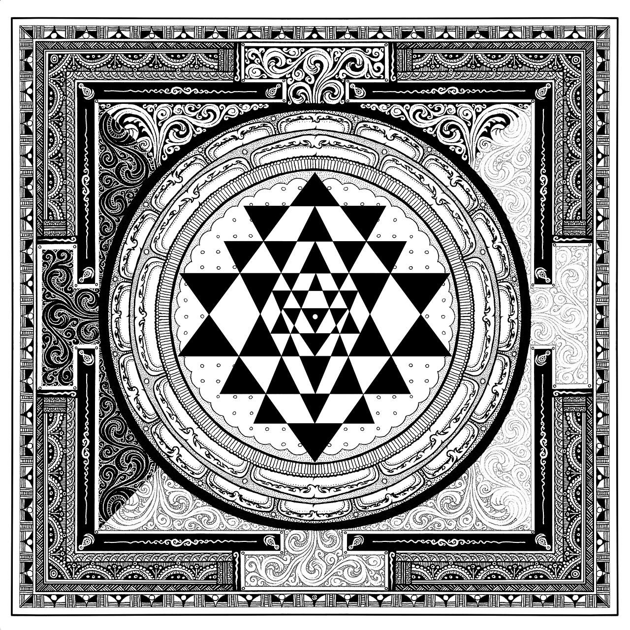 Sri yantra,symbol,meditation,free pictures, free photos