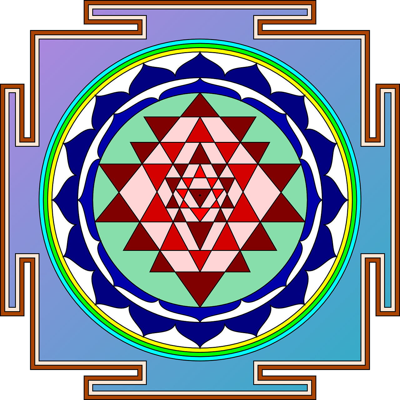sri yantra object devotion free photo