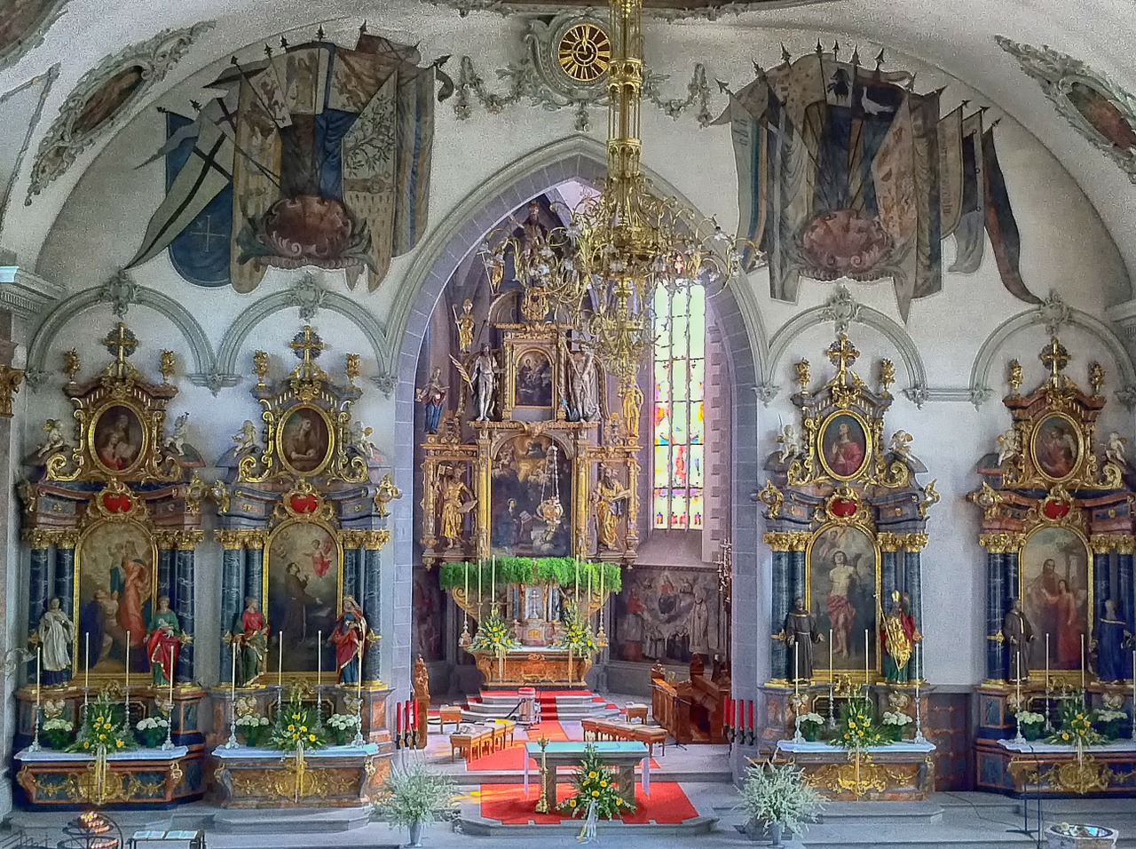 st martin,appenzell,switzerland,church,building,interior,inside,architecture,ornate,sculptures,paintings,art,artwork,hdr,free pictures, free photos, free images, royalty free, free illustrations, public domain