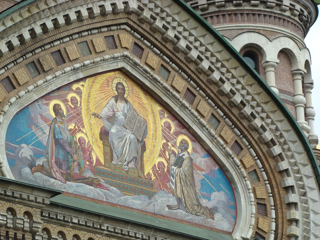 st petersburg mosaic church free photo