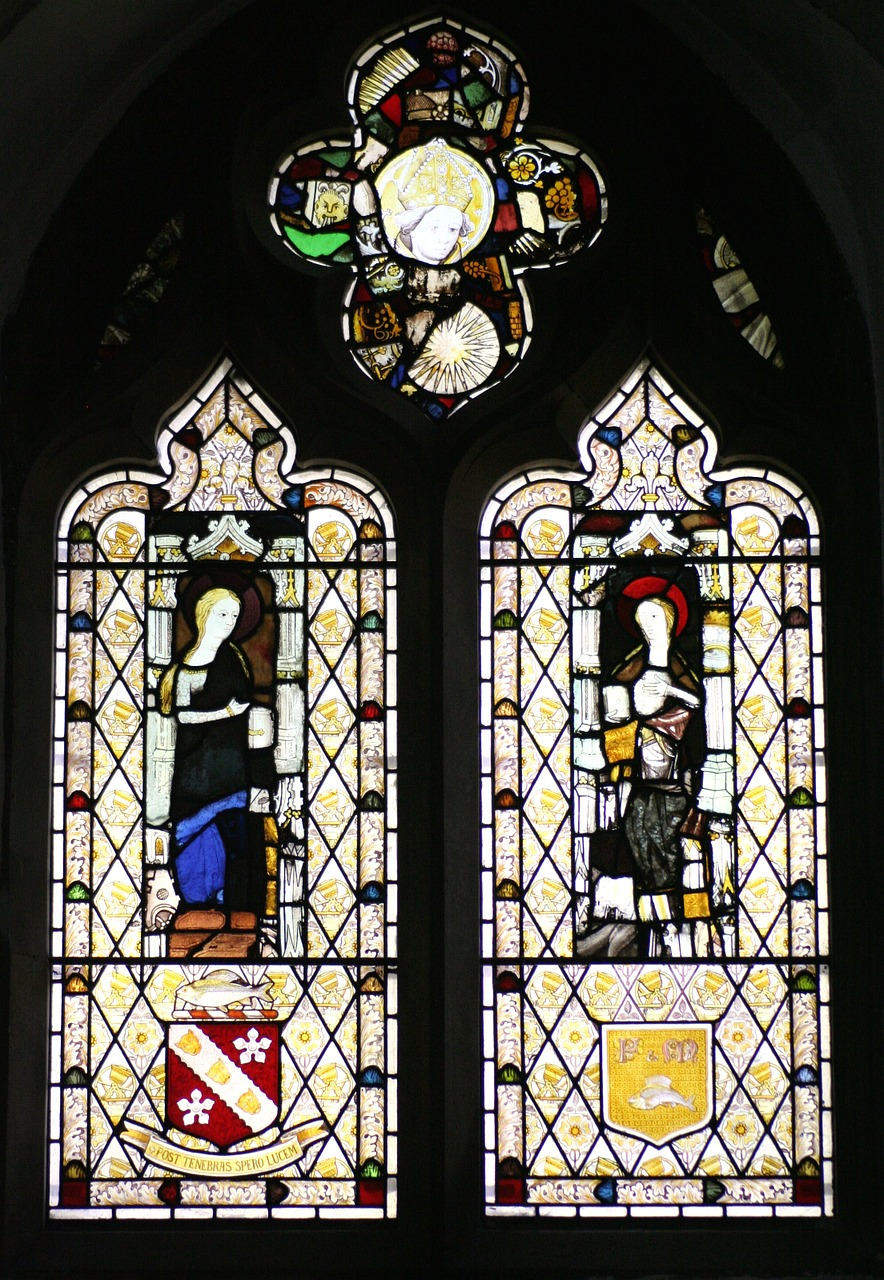 stained glass window st michael's church sittingbourne free photo