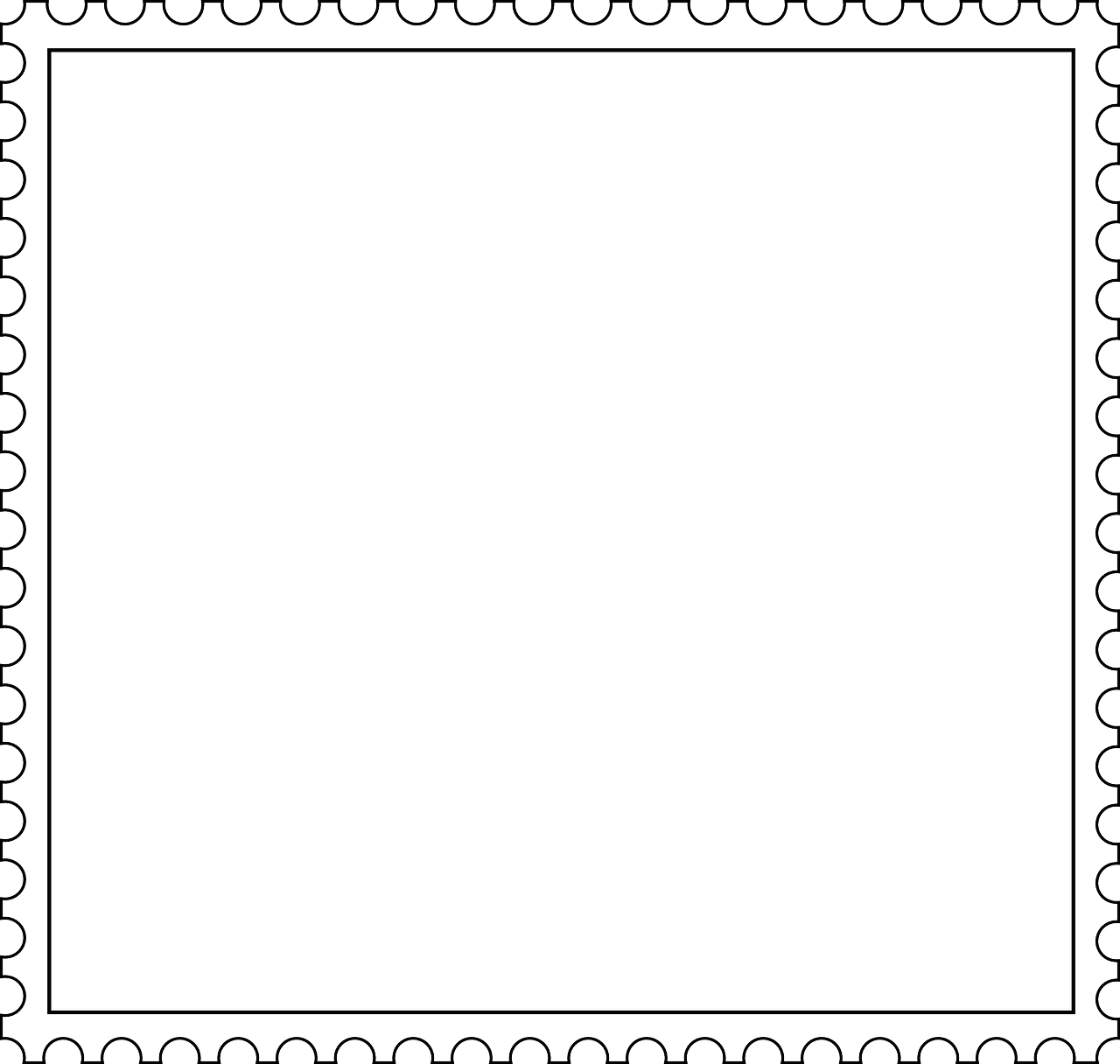 stamp white frame free photo
