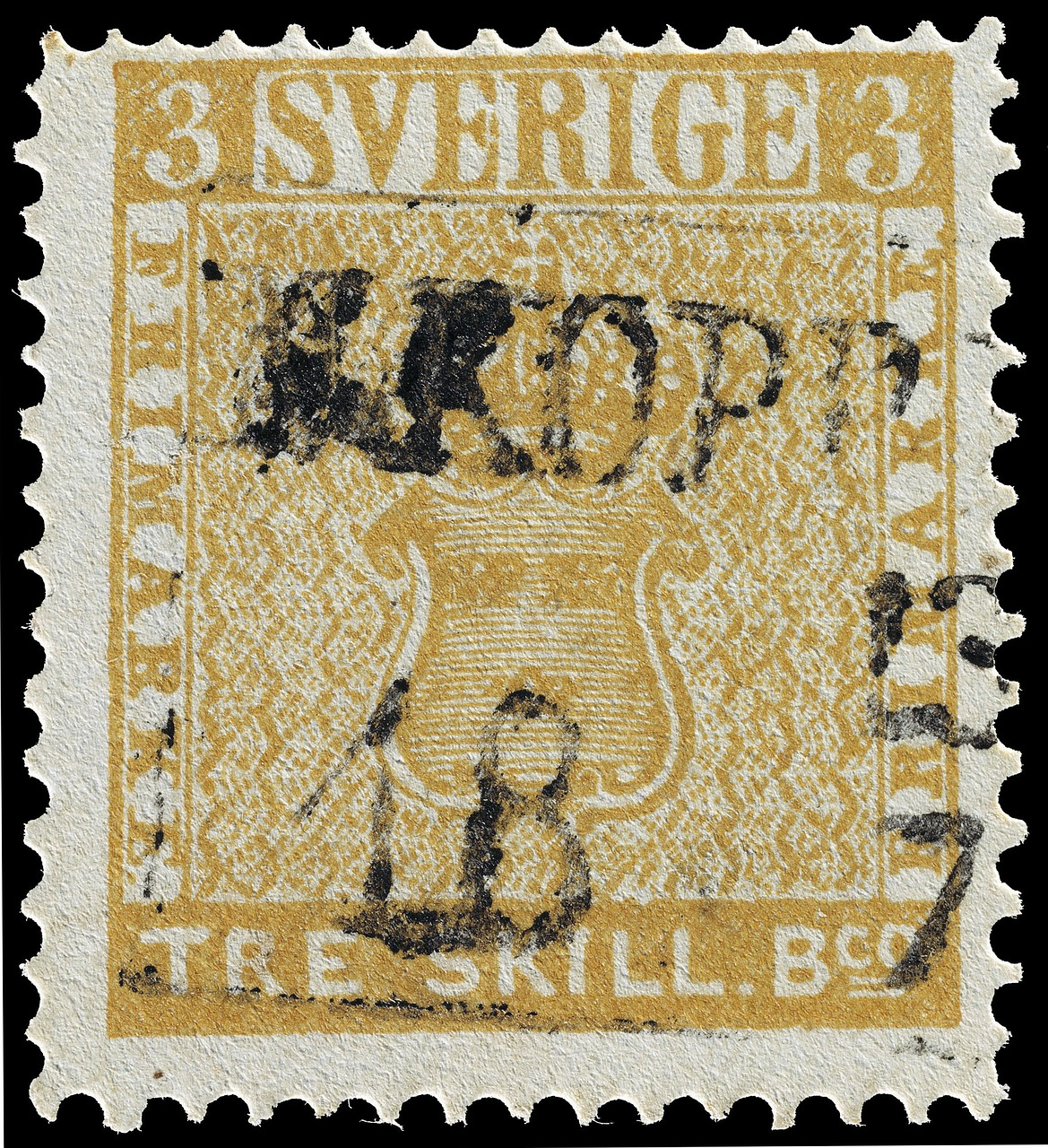 stamp,tre skilling banco error,swedish,three,3,1855,valuable,expensive,rarely,sweden,free pictures, free photos, free images, royalty free, free illustrations, public domain