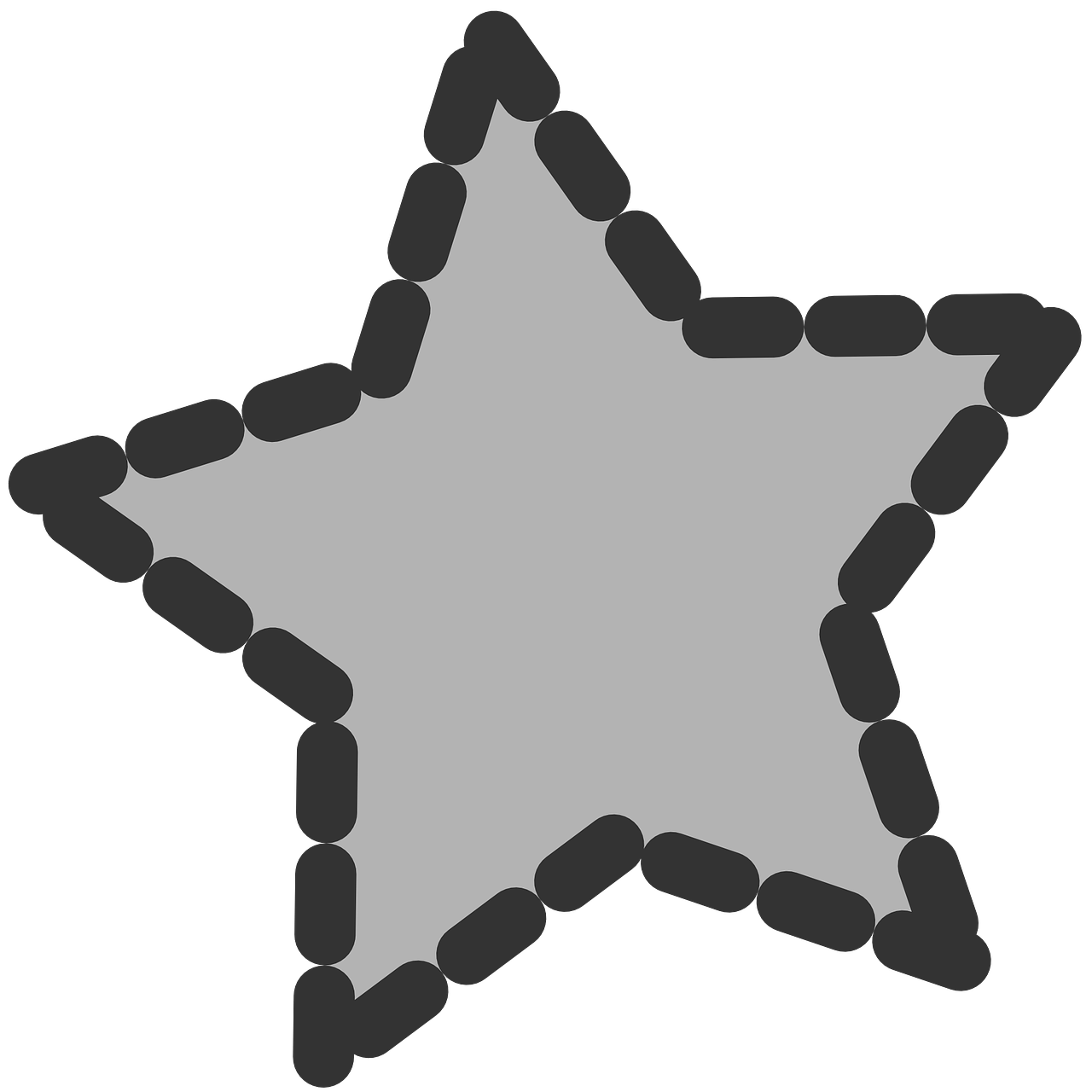star,shape,dotted,outline,shaded,fill,grey,free vector graphics,free pictures, free photos, free images, royalty free, free illustrations, public domain