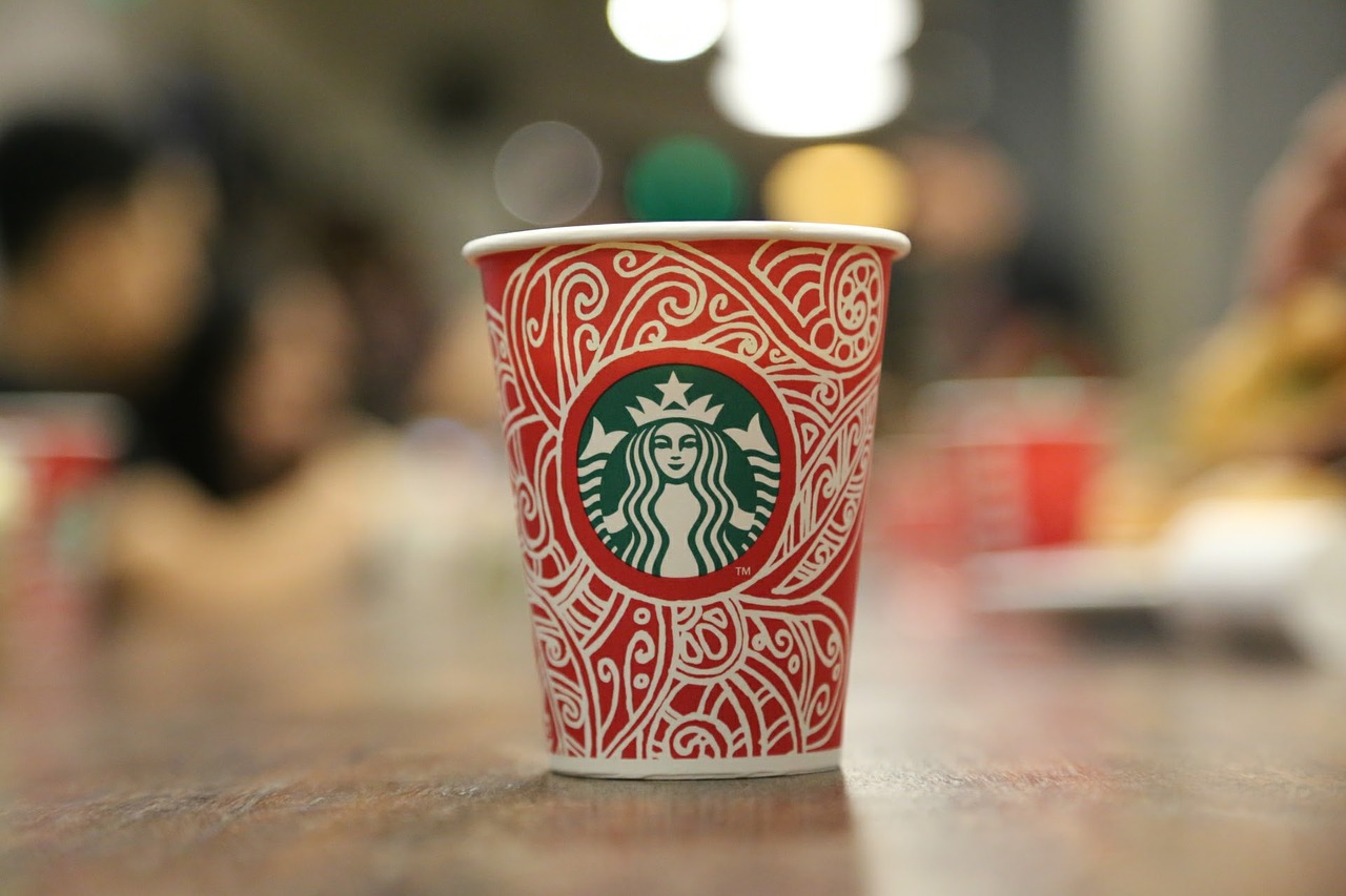 Starbucks Coffee Christmas Decoration Beverage Free Photo From