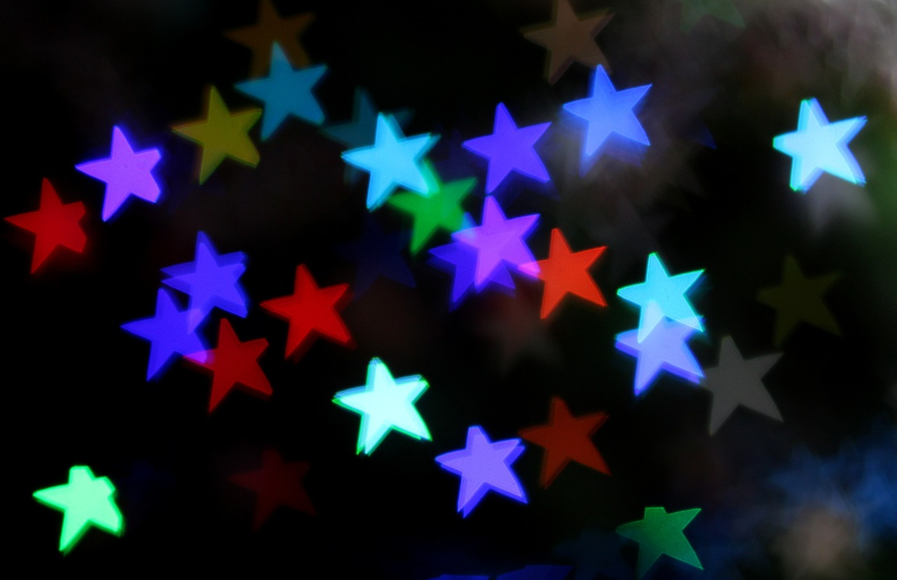 stars bokeh decorations free photo