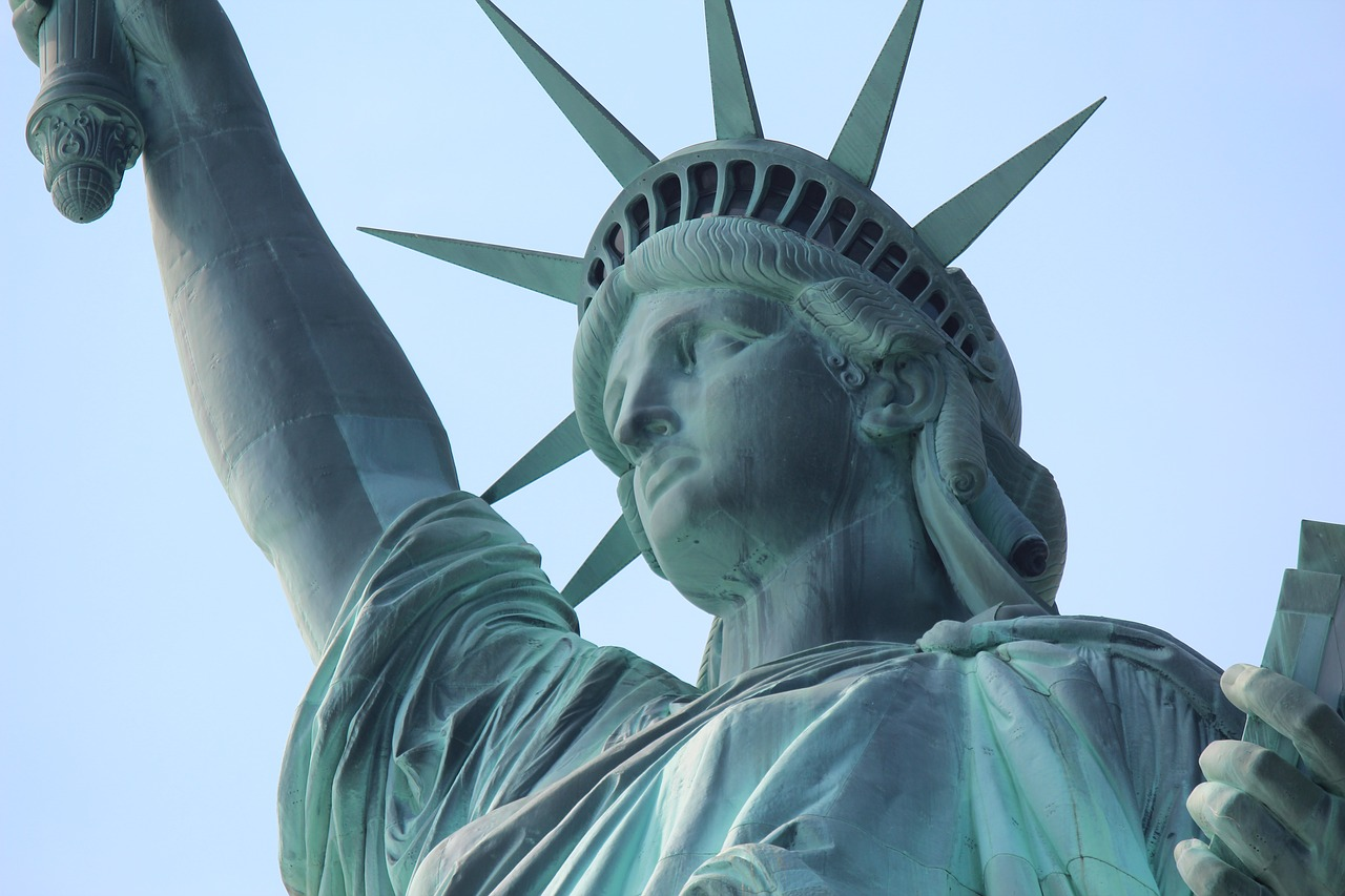 Statue Of Liberty America Close Usa Lens Free Image From