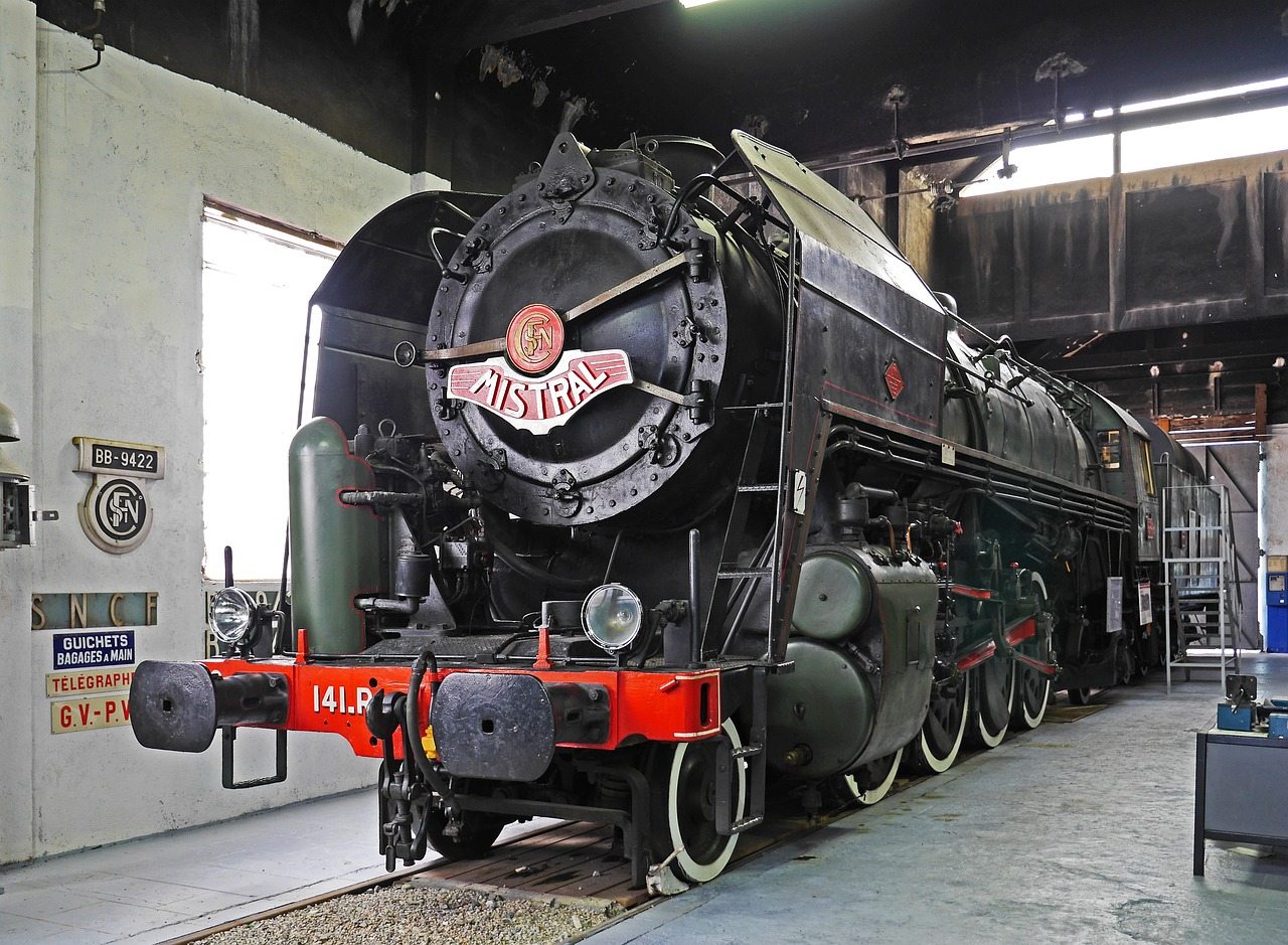 steam locomotive museum sncf free photo