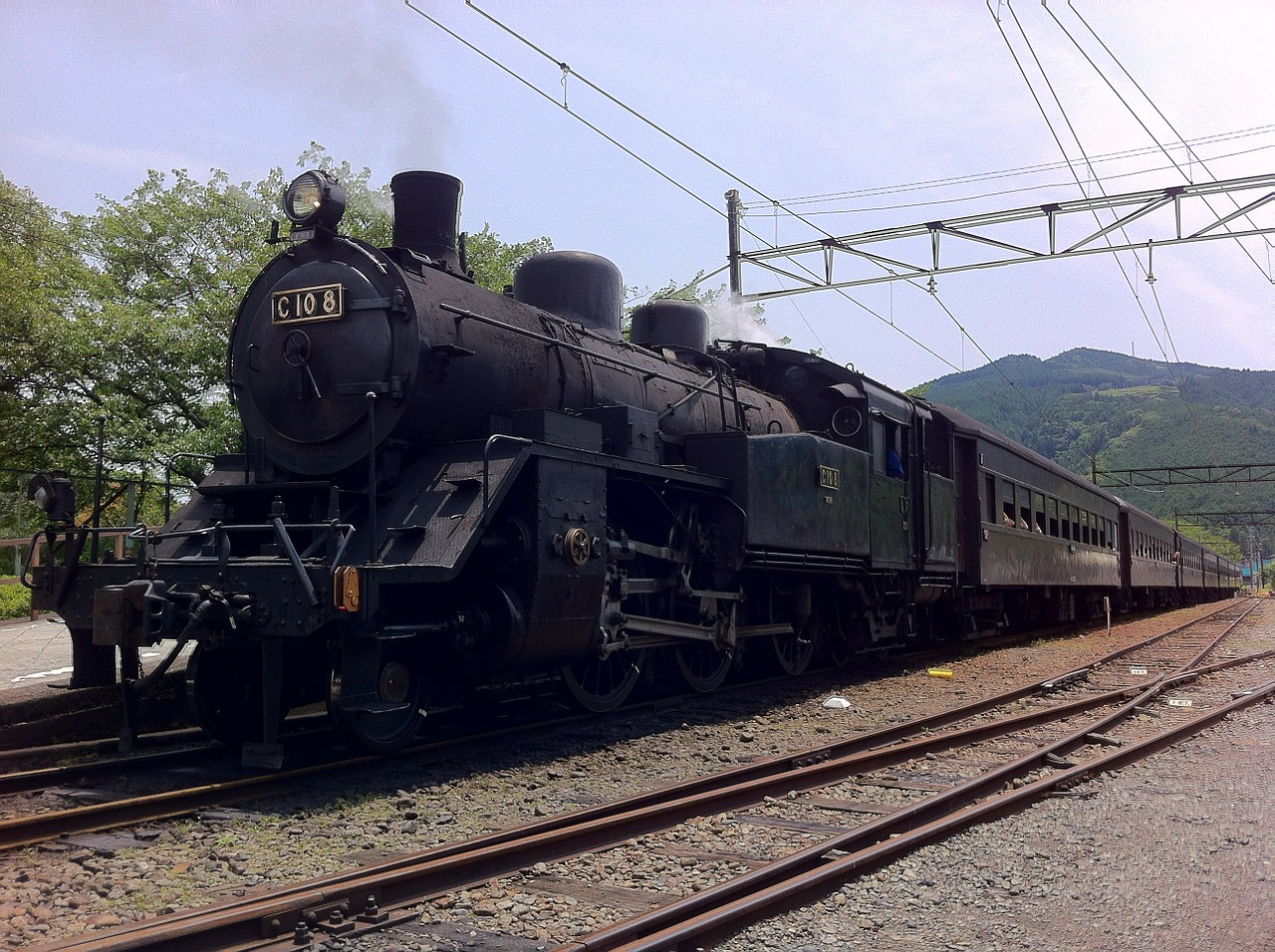 steam locomotive train japan free photo