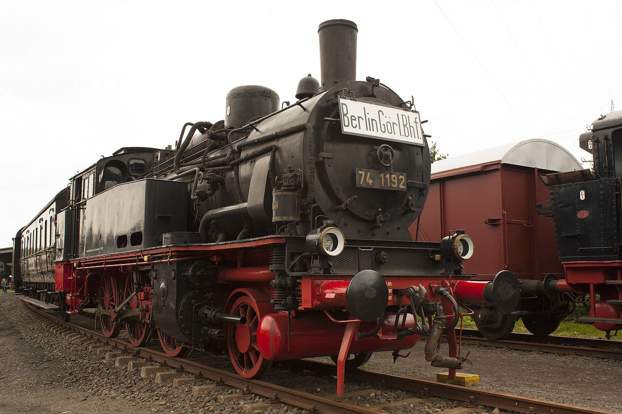 steam locomotive railway museum free photo