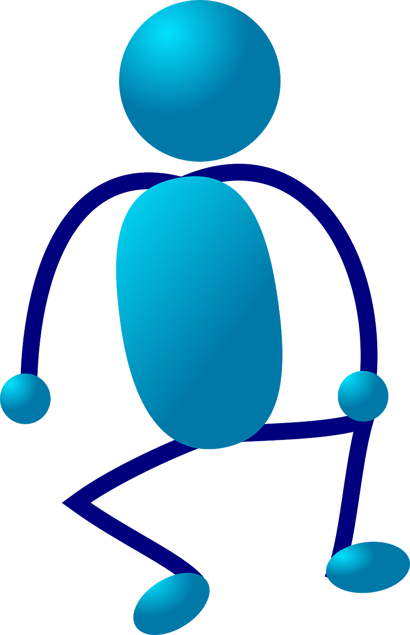 stick figure stickman blue free photo