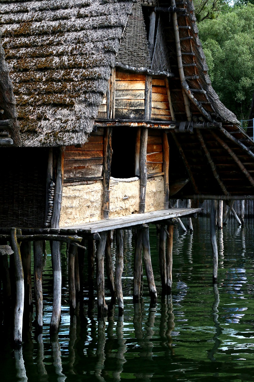 stilt houses unteruhldingen lake constance free photo