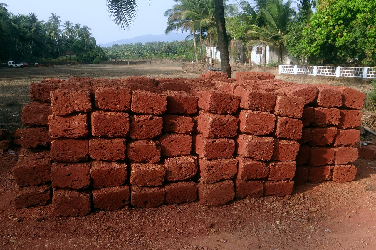 stone blocks laterite iron ore free photo