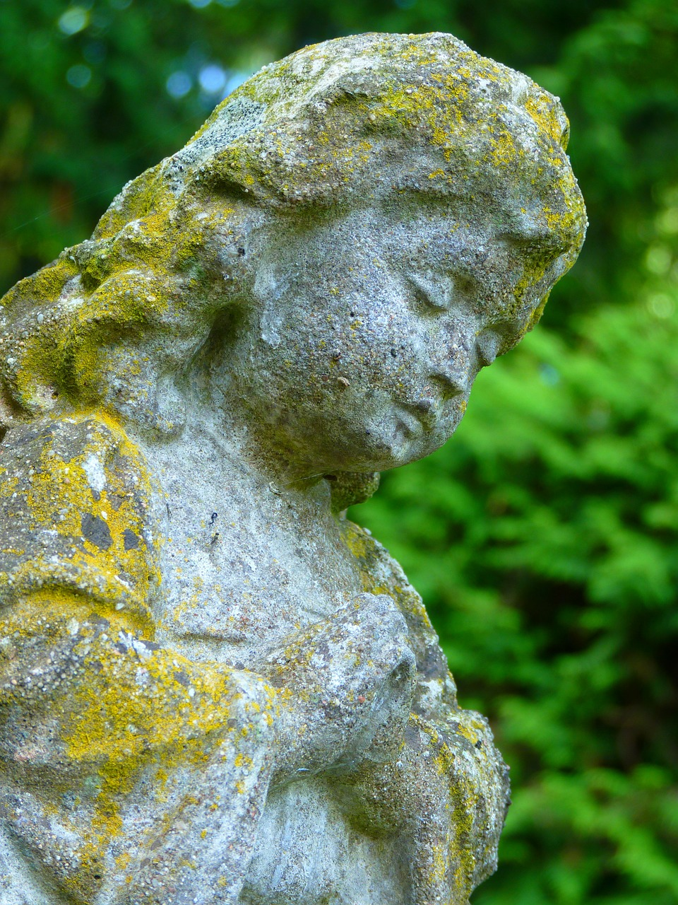 stone figure stone girl free picture