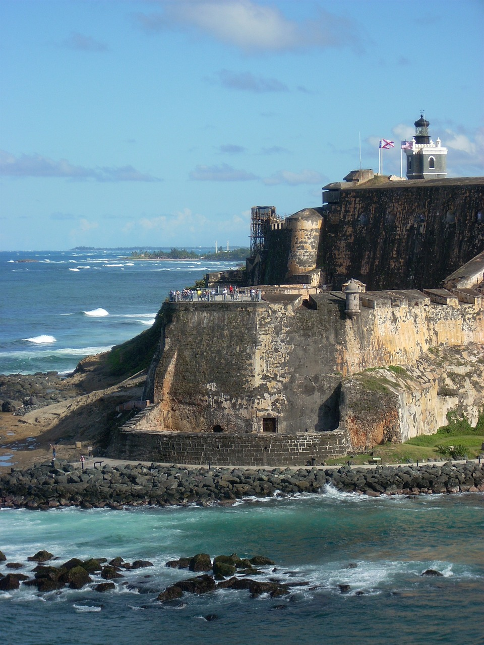 stone wall puerto rico architecture free photo