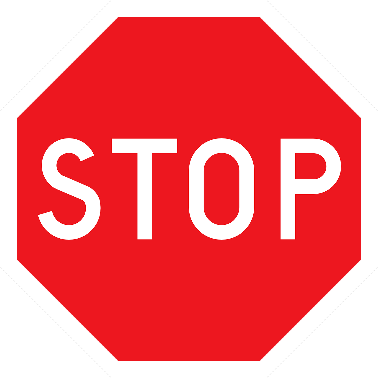stop road sign roadsign free photo