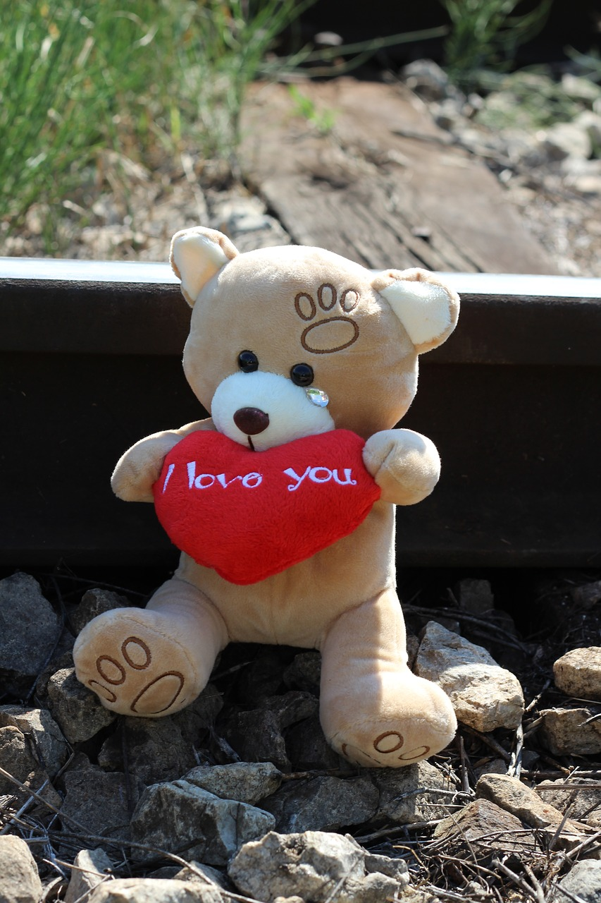 stop child suicide teddy bear crying railway free photo