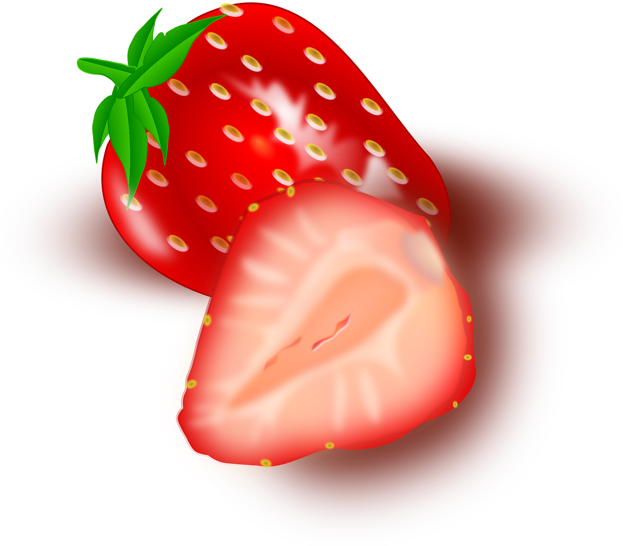 strawberry fruits sliced free picture