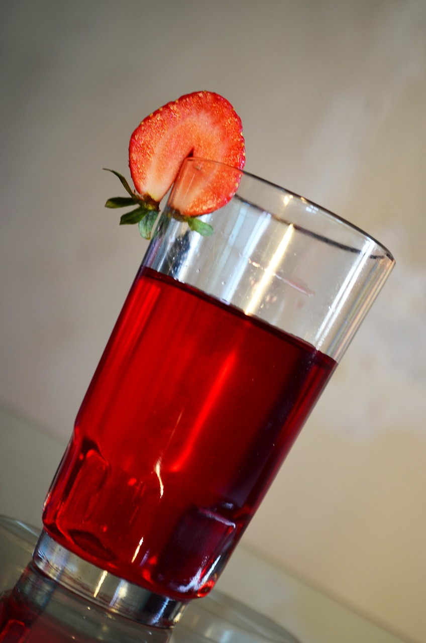 strawberry drink beverage free picture