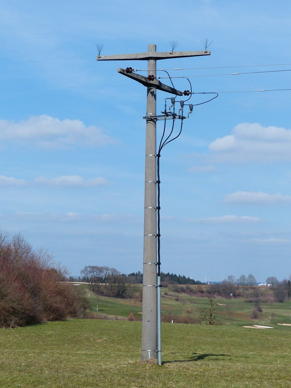 strommast power line current free photo