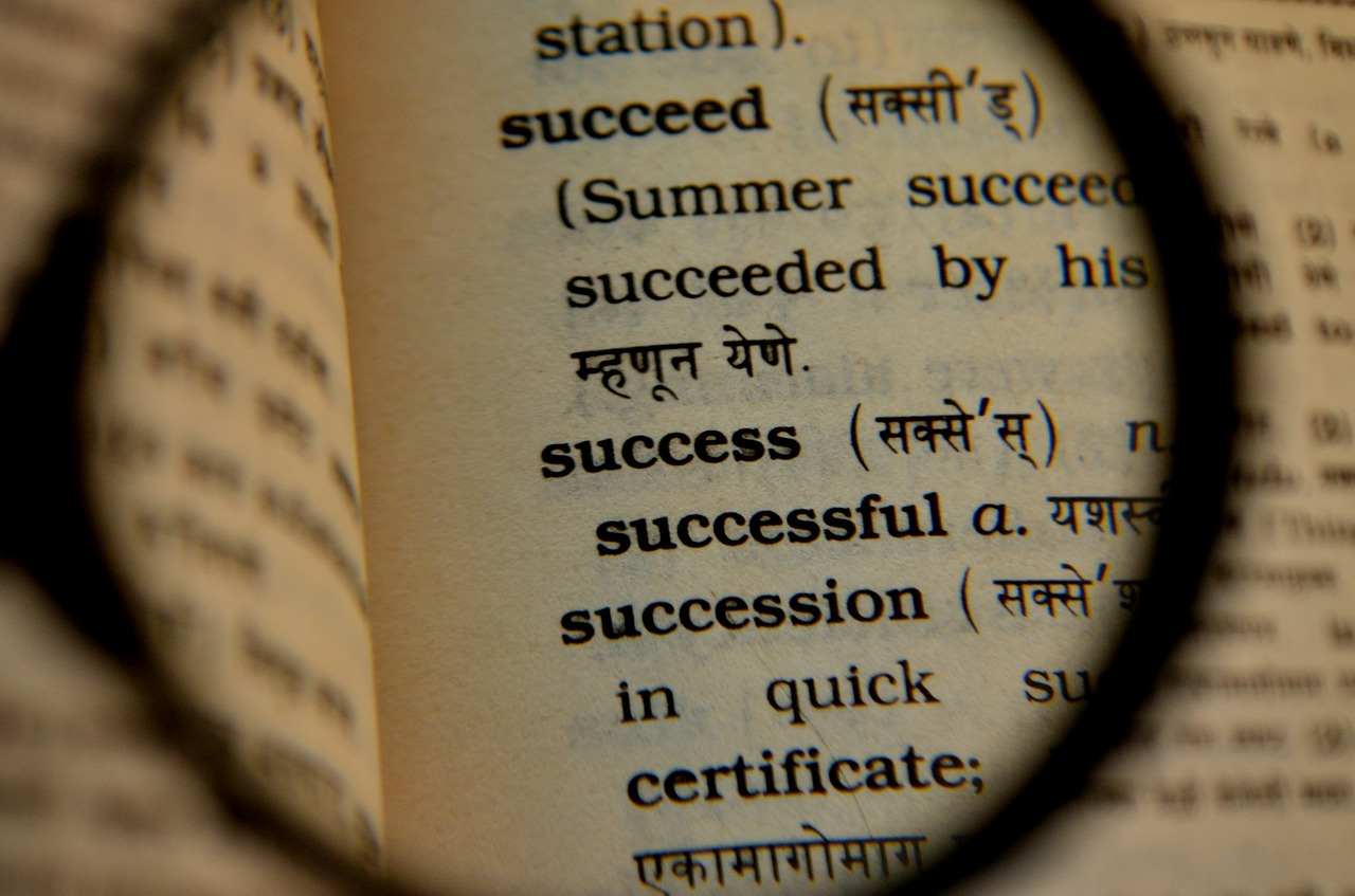 success dictionary magnifier free photo