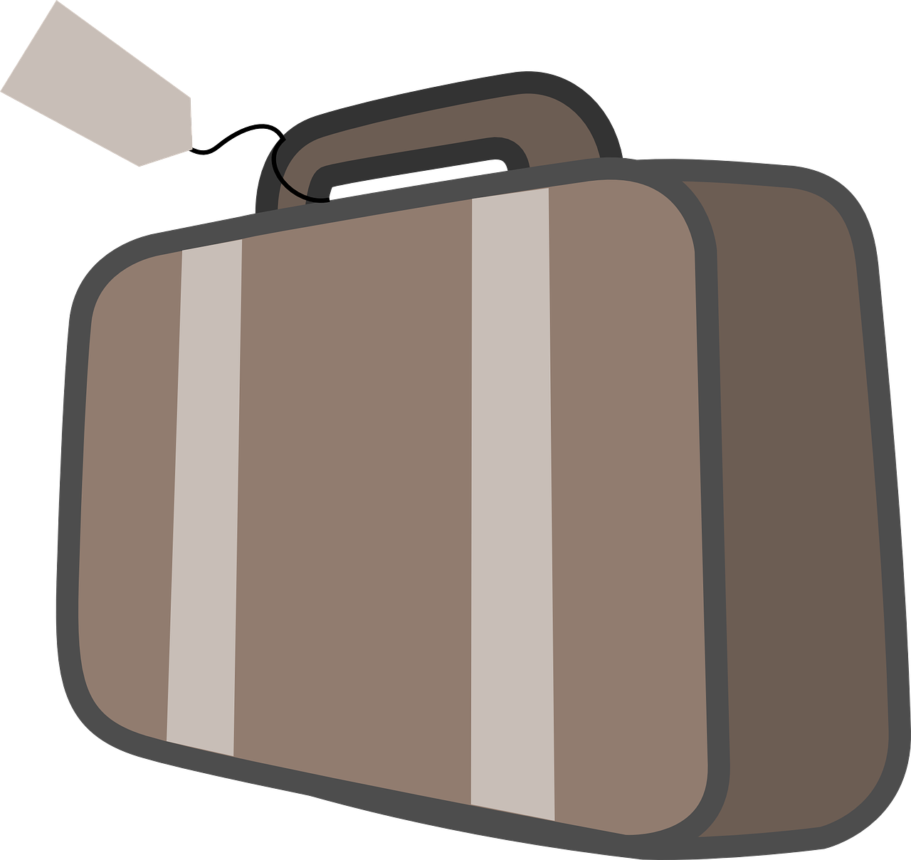 Suitcase,bag with tag