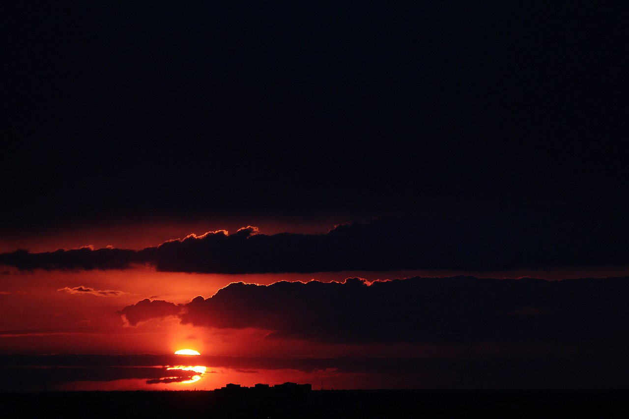 Sun,sunset,dark,clouds,orange - free image from needpix.com