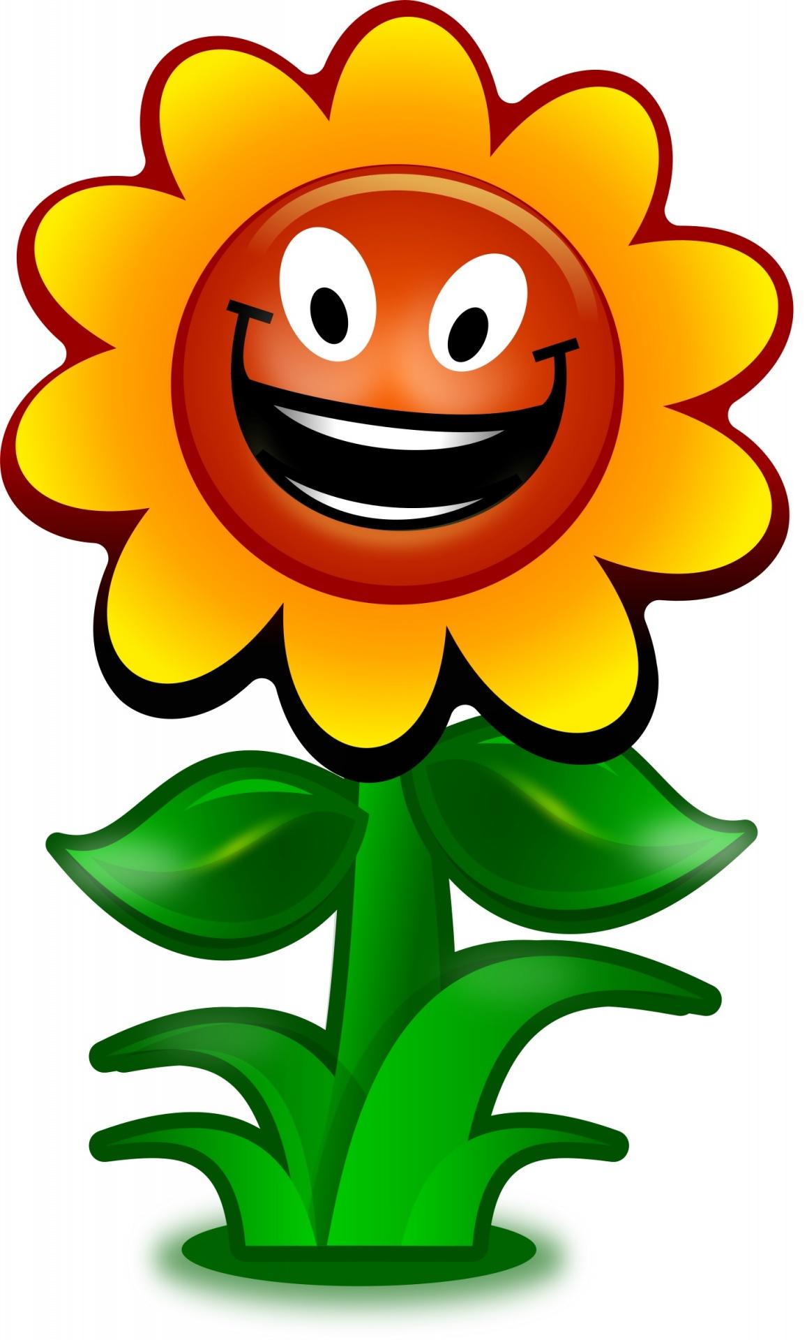 Sunflower Flower Cartoon Art Background Free Image From Needpix Com