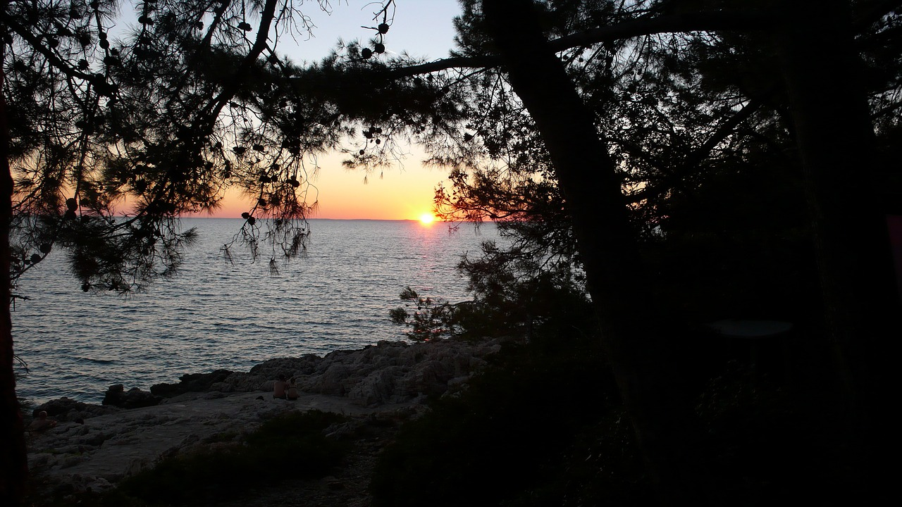 sunset sea abendstimmung free photo