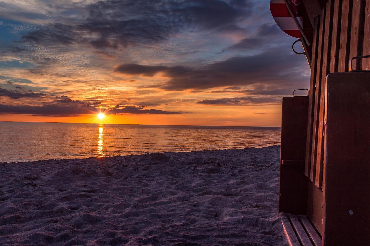 Sunset Beach Chair Clouds