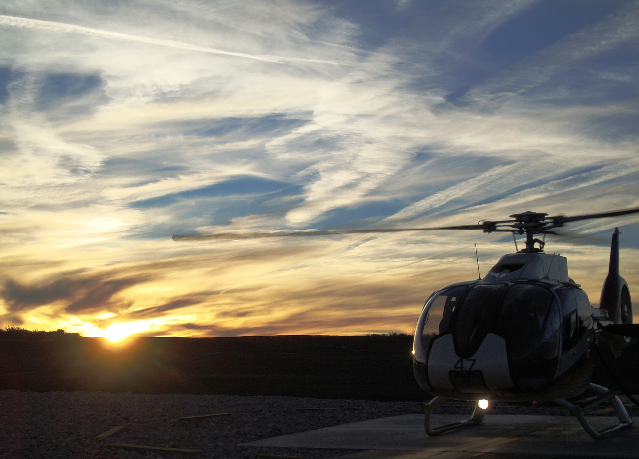sunset helicopter free pictures free photo