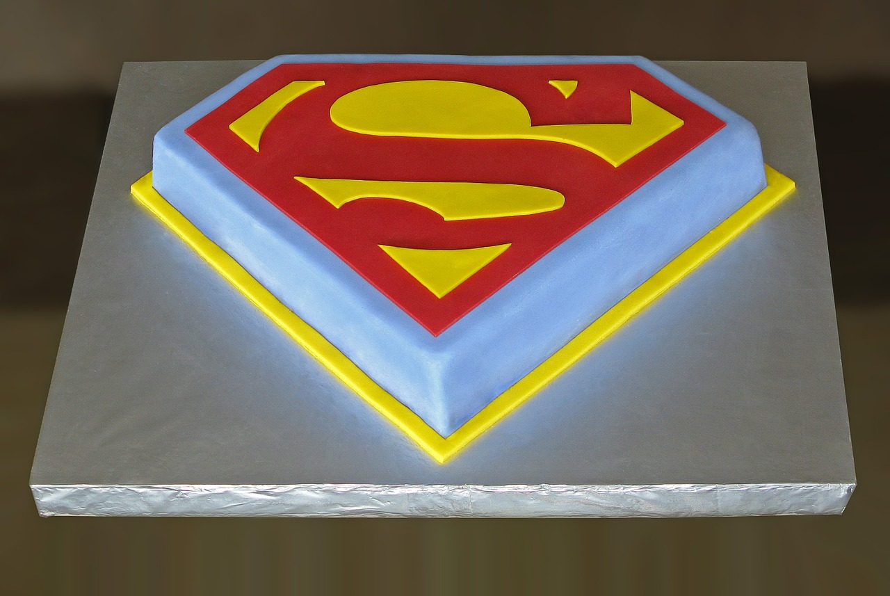 Awesome Superman Birthday Cake Icing Food Free Image From Needpix Com Funny Birthday Cards Online Bapapcheapnameinfo