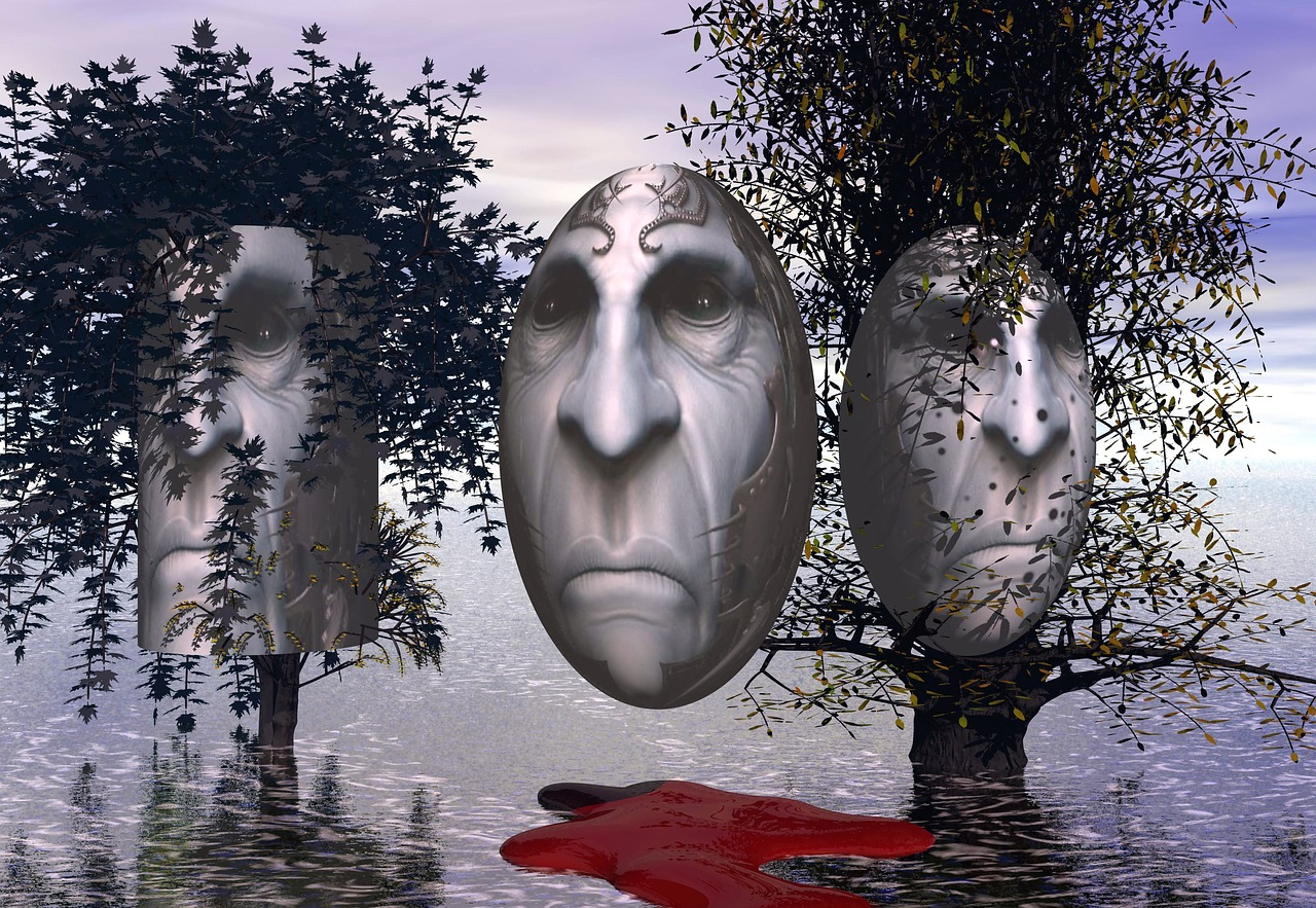 Surrealism,3d,faces,trees,free pictures - free image from needpix.com