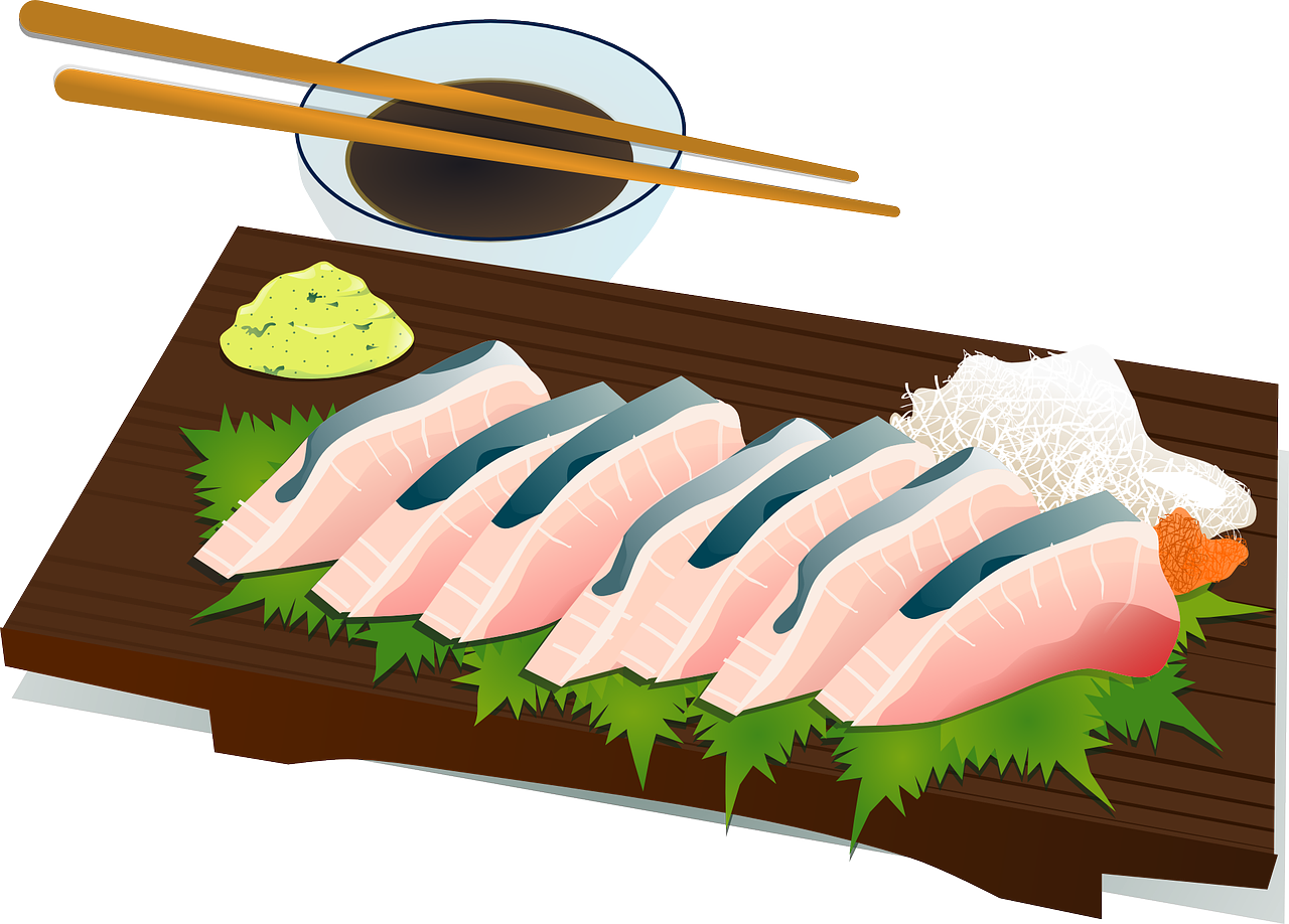 sushi,chopsticks,culture,fish,raw,salmon,food,japan,japanese,free vector graphics,free pictures, free photos, free images, royalty free, free illustrations, public domain