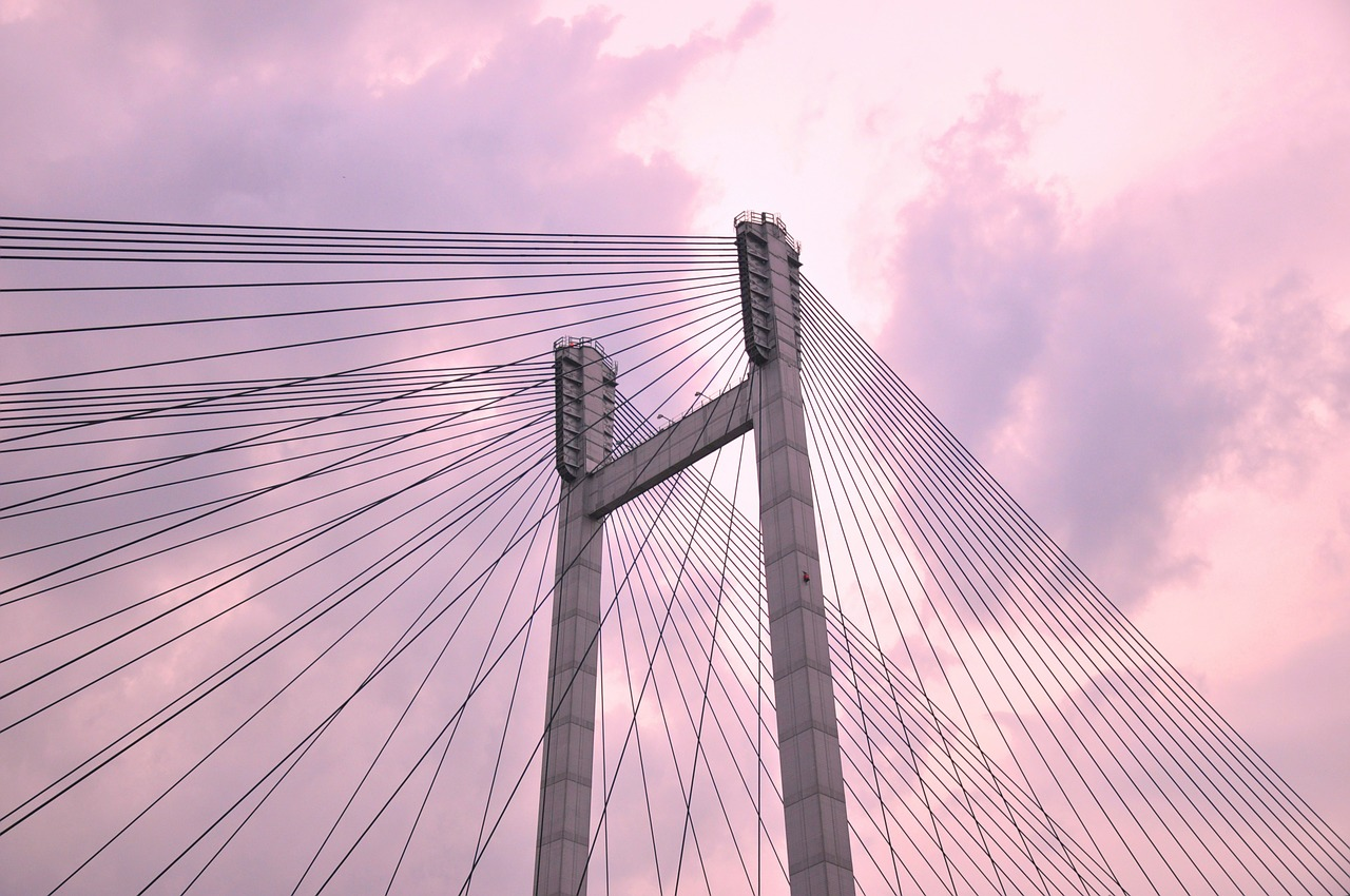 suspension bridge cable bridge free picture