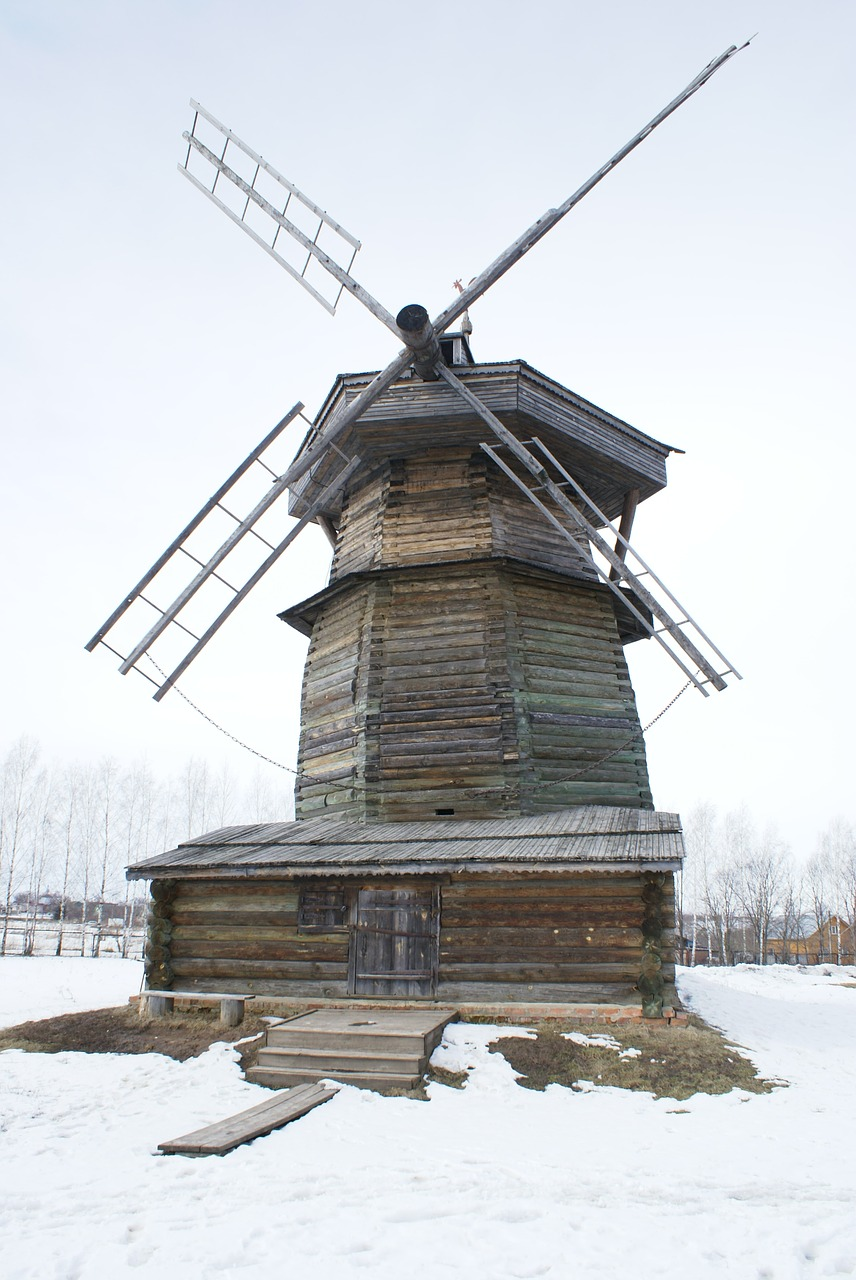 suzdal wooden mill old mill free photo
