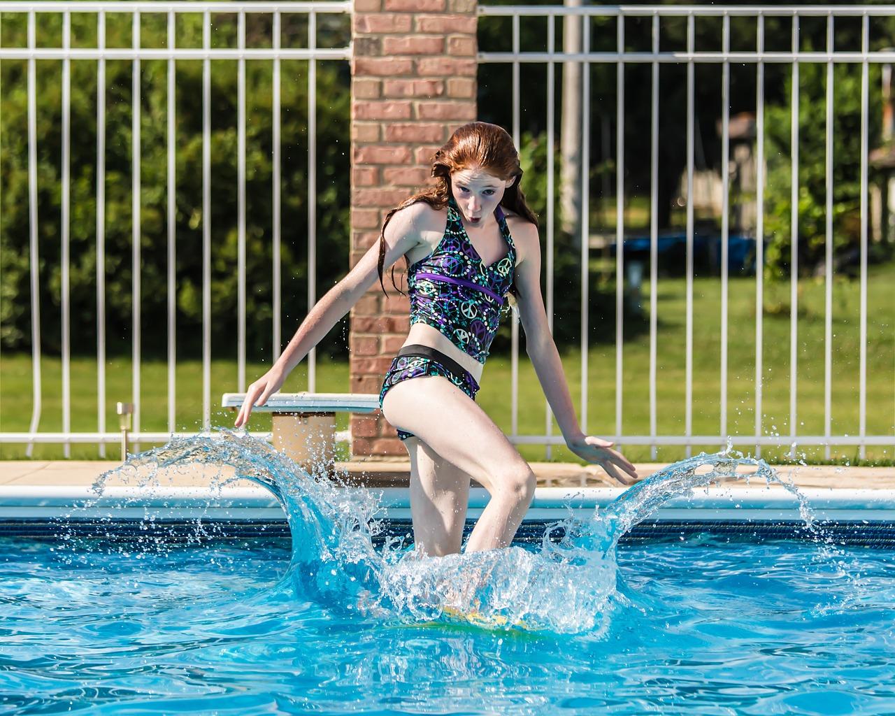 Femdom at swimming pool