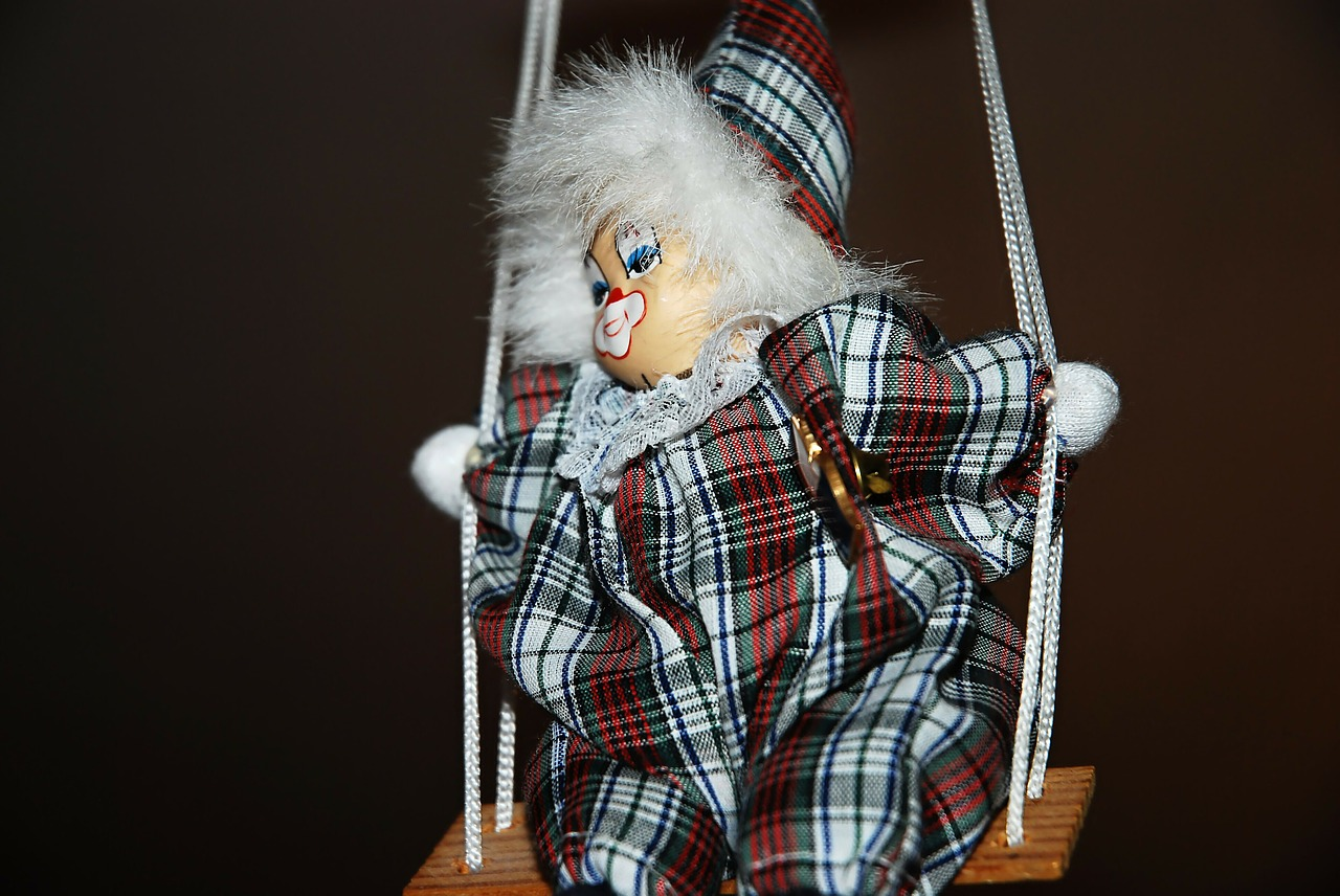 swing puppet clown free photo