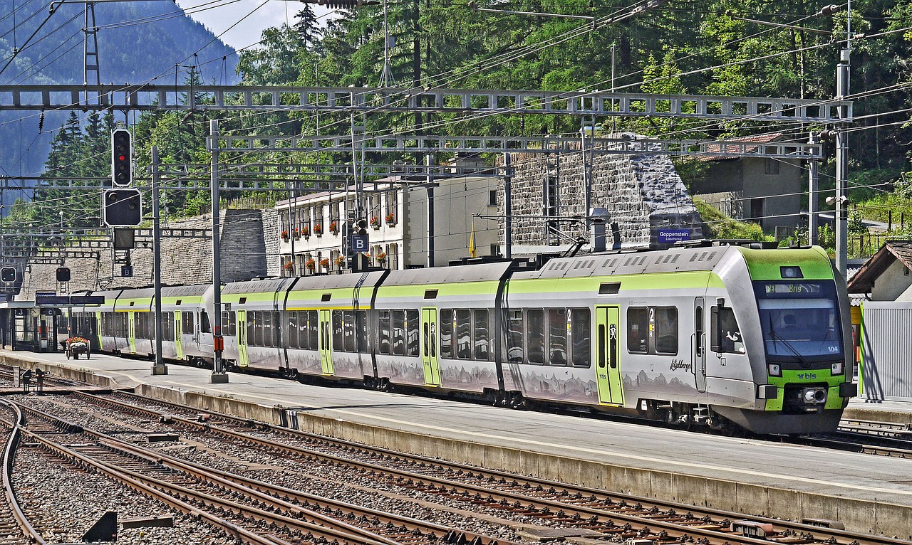 switzerland lötschberg railway station free photo