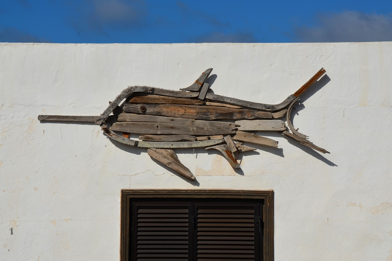 swordfish art sculpture free photo