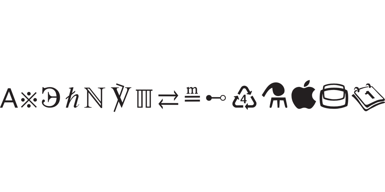 symbols font glyphs free photo