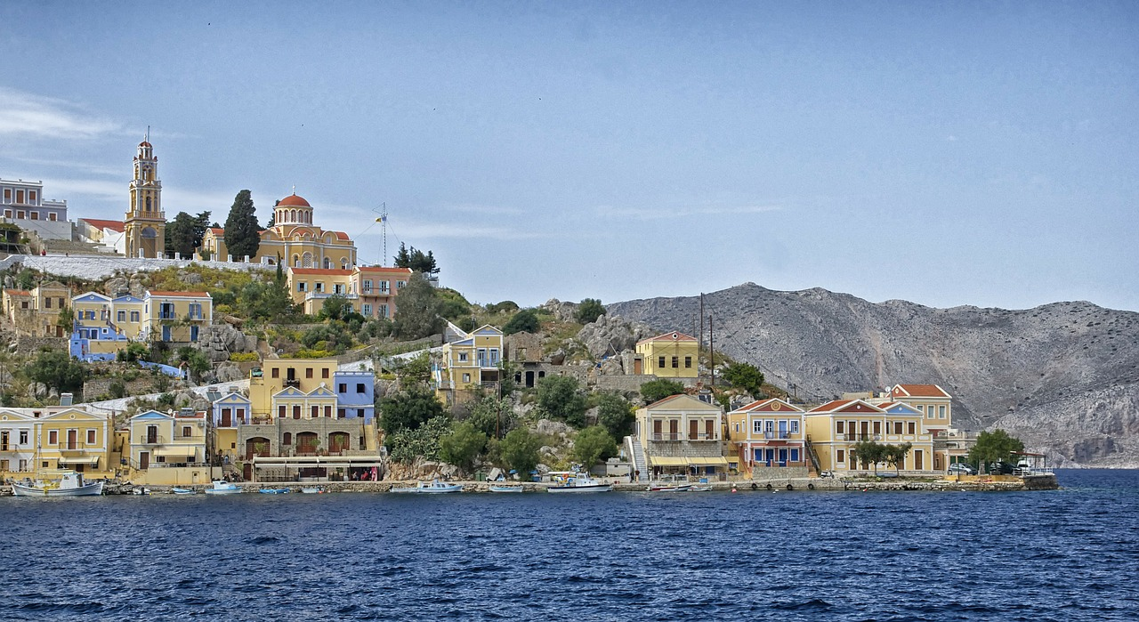 symi greece landscape free photo