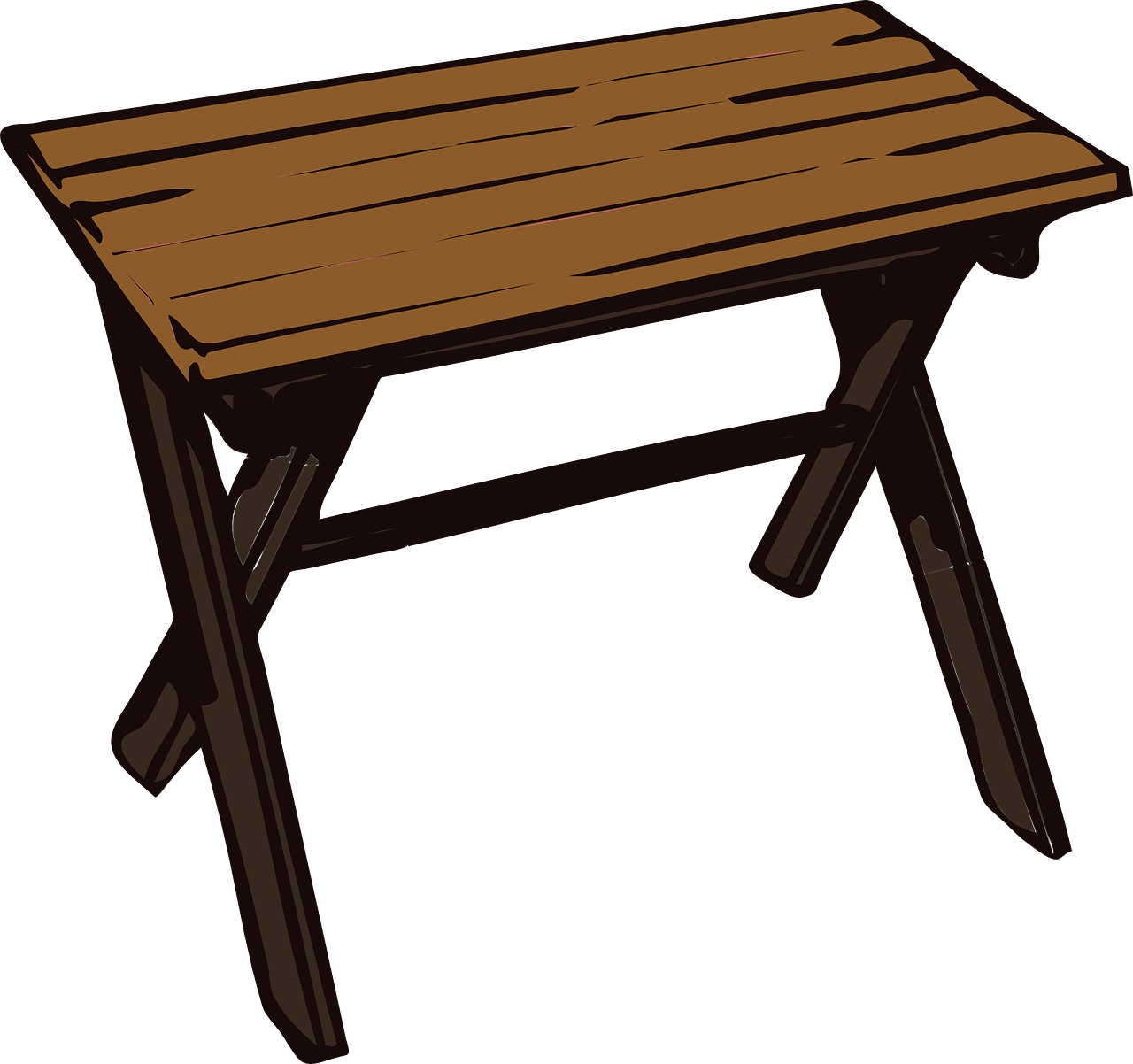 table wooden small free photo