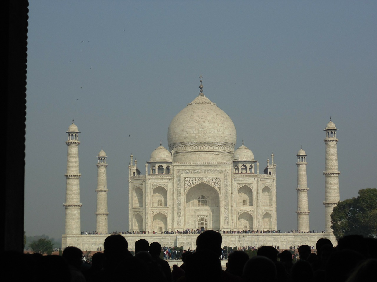 taj mahal marble monument free photo