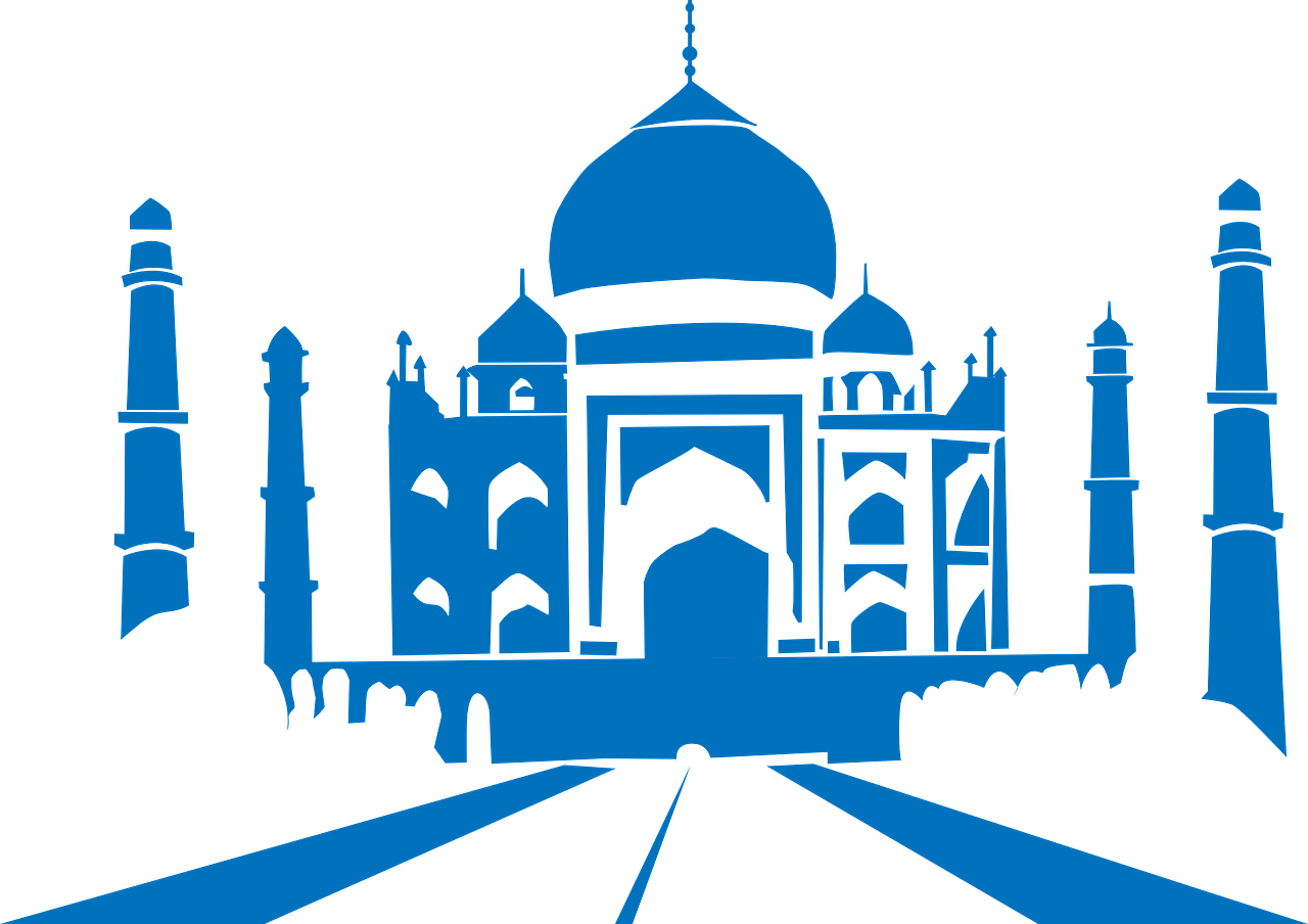 tajmahal taj silhouette free photo