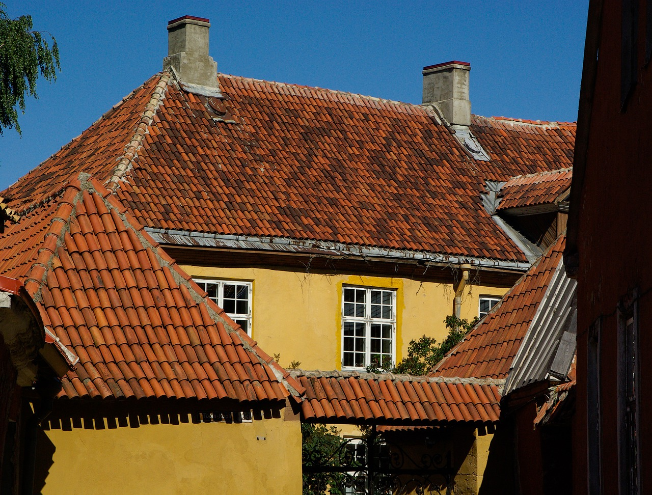 tallinn roofing tiles free photo