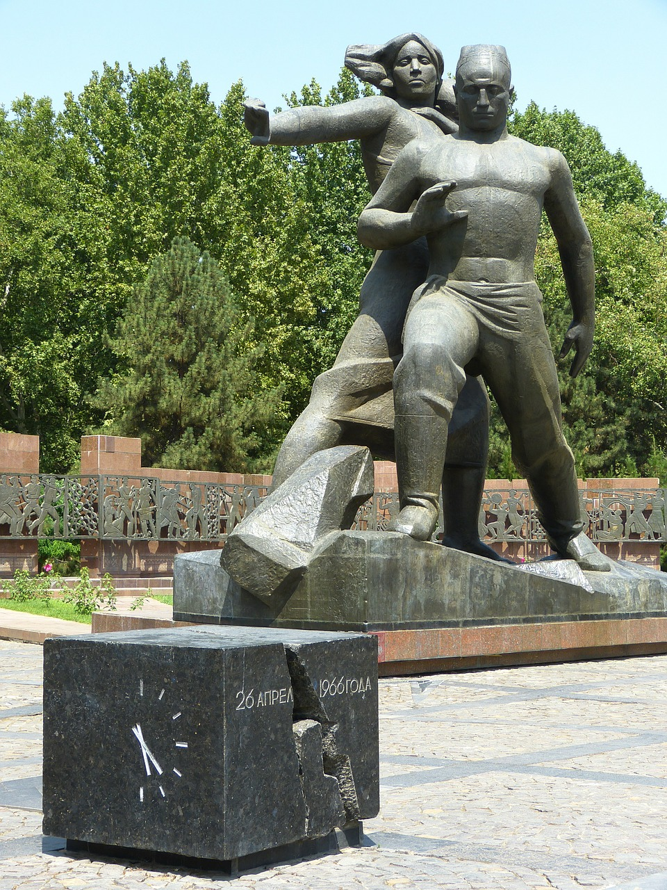 tashkent monument earthquake free photo