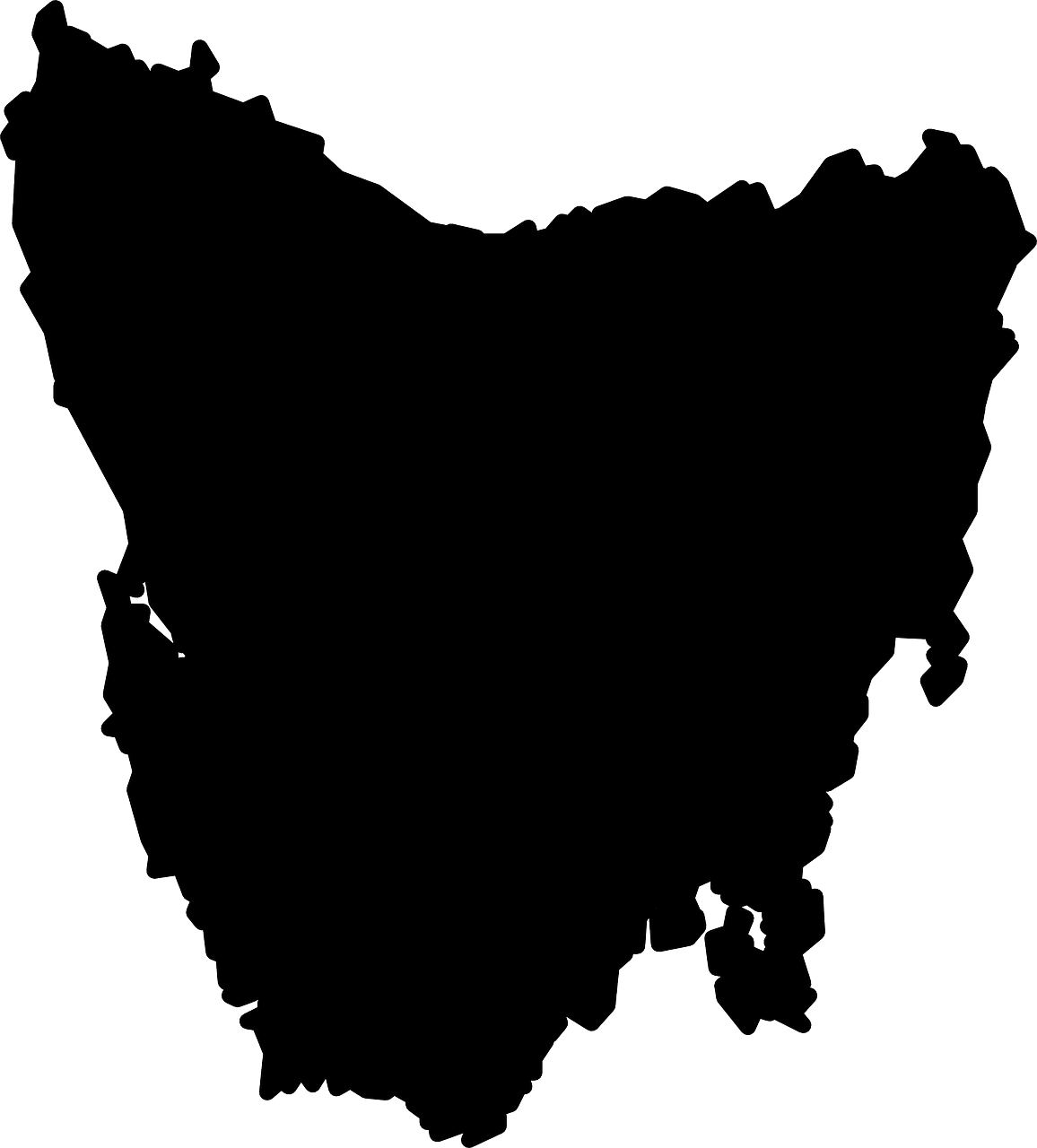 tasmania map australia free photo