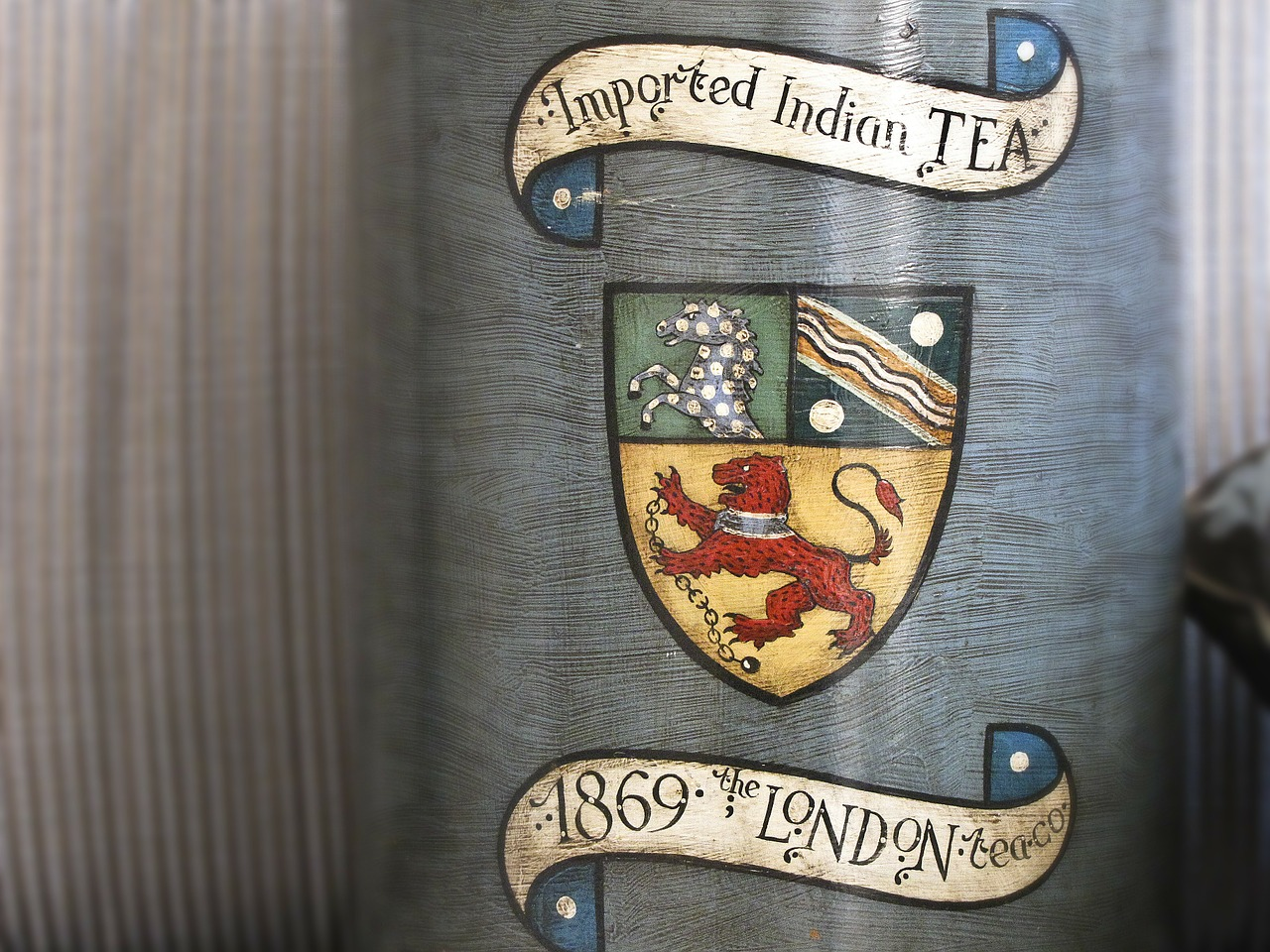 tea jar coat of arms free photo