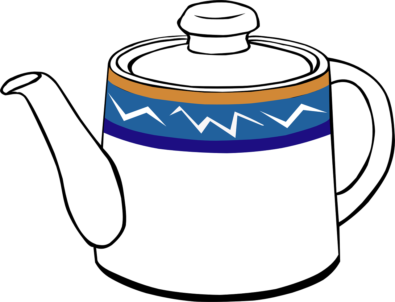 teapot,vessel,steeping,tea,pot,infusion,beverage,drinks,jug,blue,white,designs,patterns,free vector graphics,free pictures, free photos, free images, royalty free, free illustrations, public domain